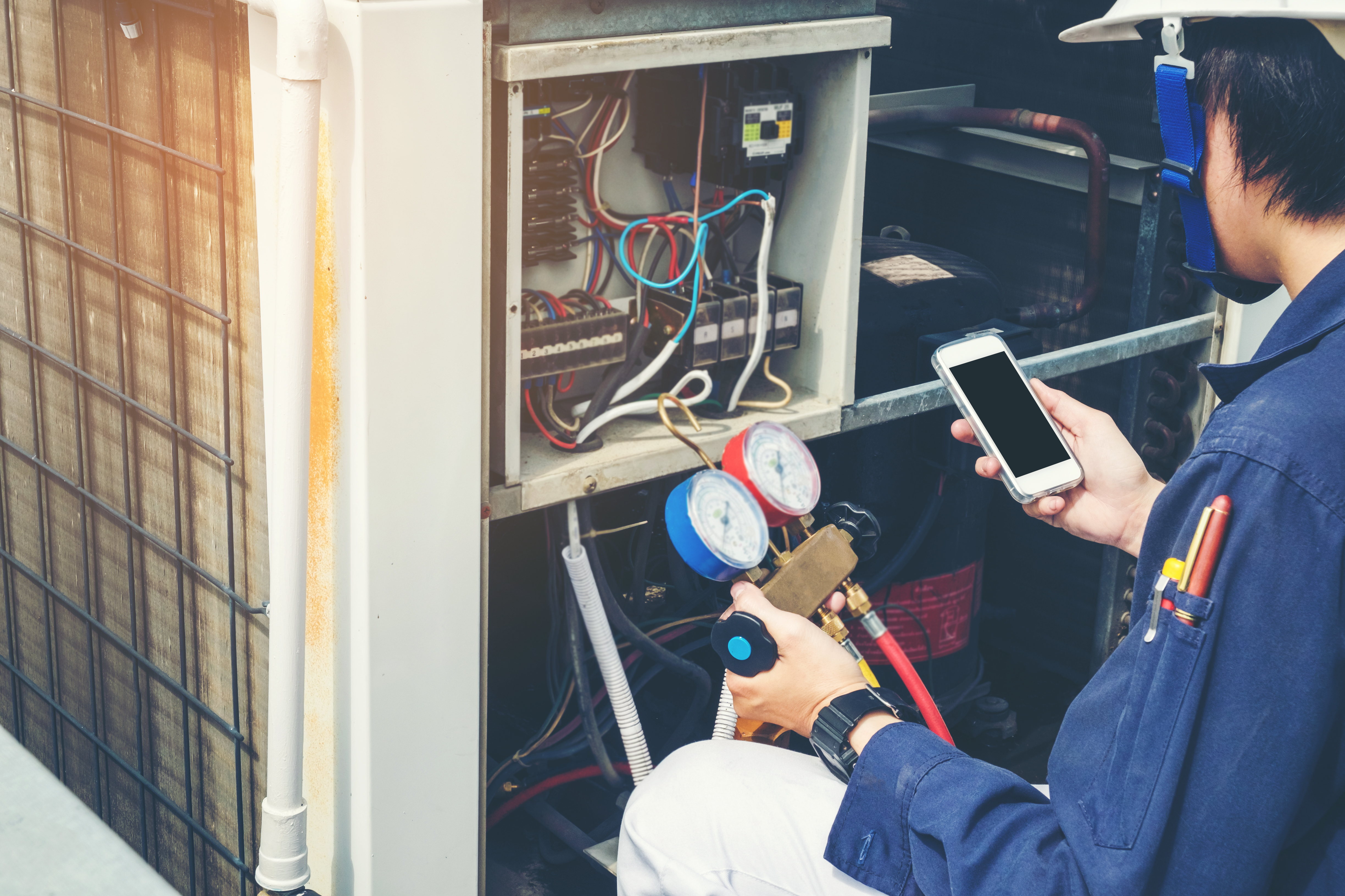 Better tracking to optimize service cost for HVAC